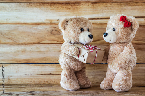 mata magnetyczna Teddy bear have a gift to girl friend