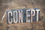concept word made from wooden letterpress type on grunge wood