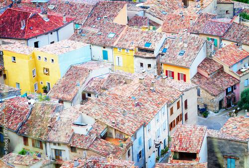 Naklejka Moustiers-Sainte-Marie, France, Provence.