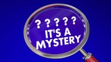 Its a Mystery Magnifying Glass Find Clues Solve Words 3d Animation