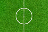 Fußballspielfeld mit Mittelkreis