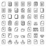 Paper icon,Document icon,Vector EPS10