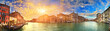 Panorama of Grand Canal at sunset, Venice, Italy