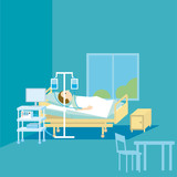 therapy medical simple vector illustration