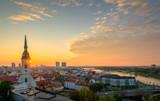 Bratislava, Slovakia landscape at sunrise