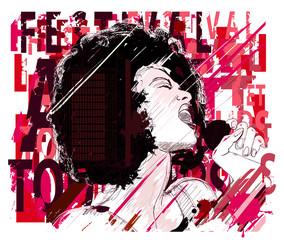 Music Jazz, afro american jazz singer © Isaxar