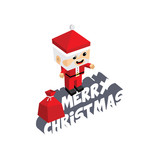 santa claus merry christmas cartoon