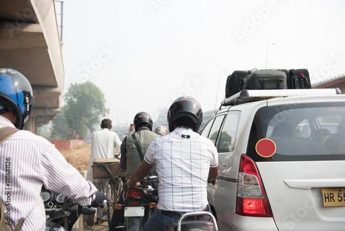 Men Riding Motorbikes Poster