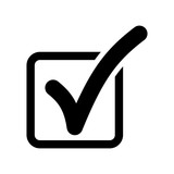 ok choice icon black on white background