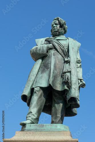 Statue of Daniele Manin in venice Poster
