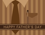 Happy Fathers Day Shirt Tie Vector Illustration