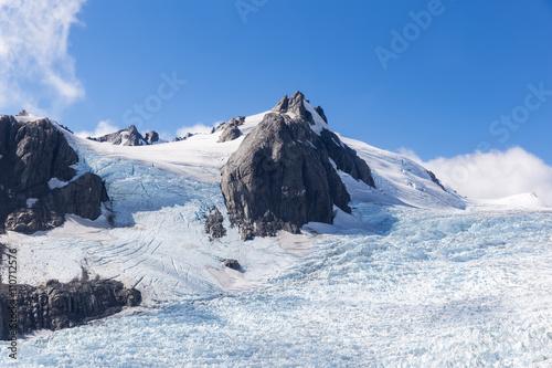 Franz Josef glacier at top view © hui_u