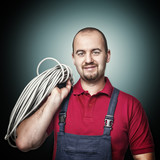 portrait of electrician