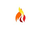 fire, flame, logo, modern fire symbol, hot flame logotype icon design vector