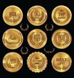 Golden badge retro vintage sale collection