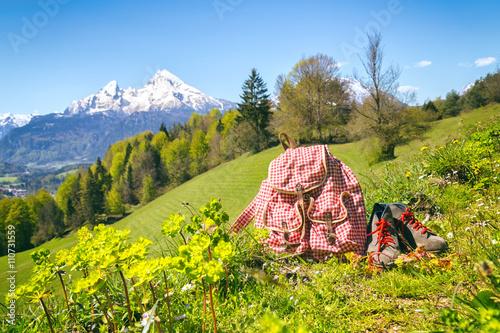 In de dag Geel Wanderung Berchtesgadener Land - Maria Gern - Watzmann - Rucksack - Wanderung
