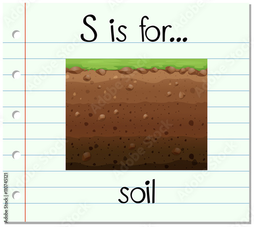 Flashcard letter s is for soil imagens e vetores de for Soil 8 letters