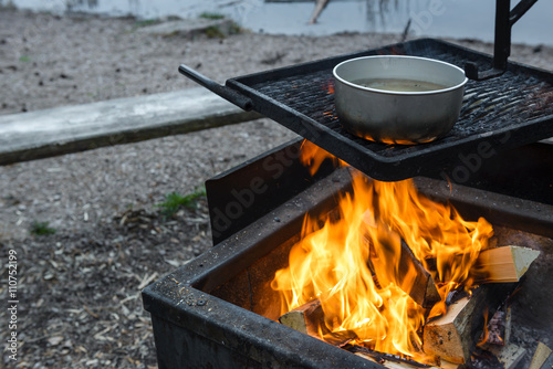 Cooking in the woods  © tahkani