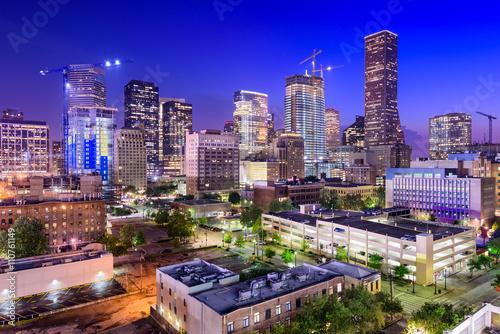 Papiers peints Aubergine Houston Texas Skyline