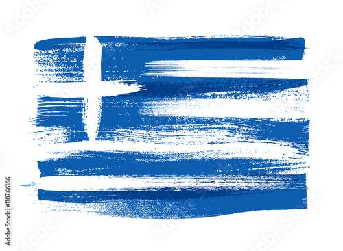 Zdjęcia na płótnie, fototapety, obrazy : Greece colorful brush strokes painted flag.