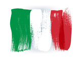 Italy colorful brush strokes painted flag. - 110766367