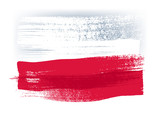 Poland colorful brush strokes painted flag. - 110766549