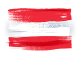 Austria colorful brush strokes painted flag. - 110766732