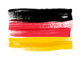 Germany colorful brush strokes painted flag. - 110766773