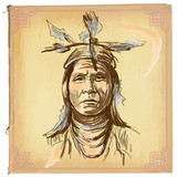 Native American, Indian - An hand drawn vector sketch, freehand - 110775383