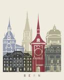 Bern skyline poster