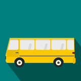 Bus icon in flat style