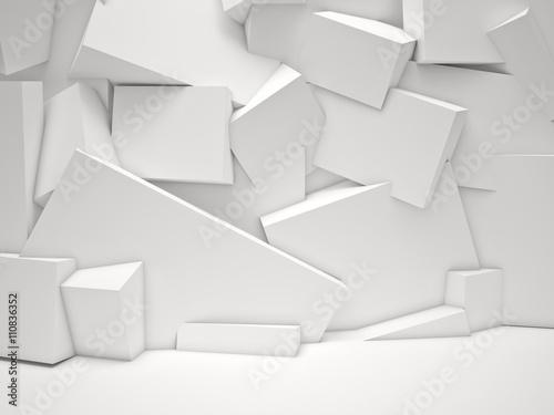 fototapeta na ścianę white cubes background