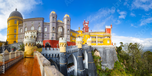 View of Palace da Pena - Sintra, Lisboa, Portugal - European travel Poster