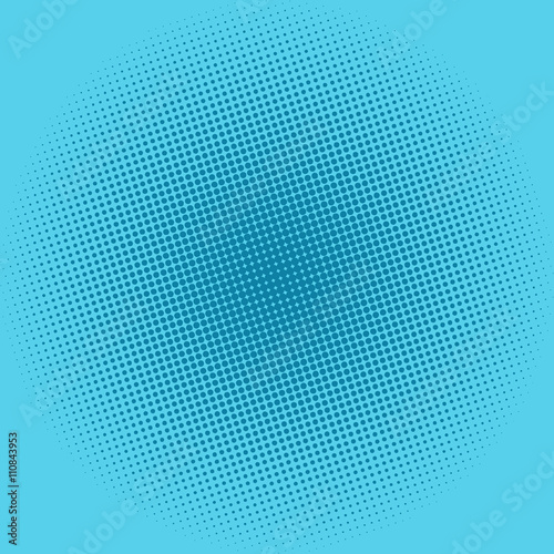 Pop Art Background, Dots on Blue Background,Halftone Background,  Retro Style, Vector Illustration © serz72