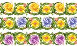 Vector seamless floral border
