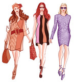 Fashion women defile