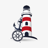 Sea lifestyle icon. nautical design. Flat illustration