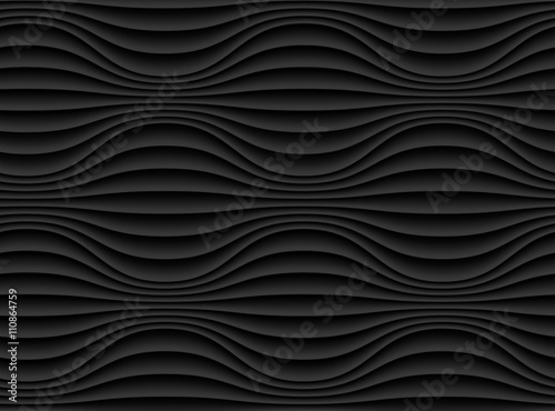 Abstract 3d black geometric background wallpaper - 110864759