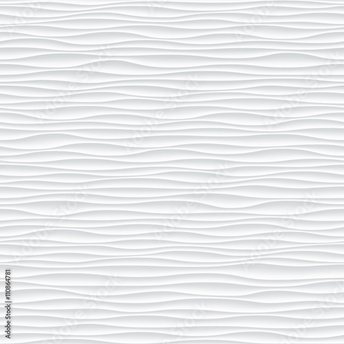 Abstract 3d white geometric background wallpaper - 110864781