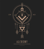 Black Esoteric, Alchemy, sacred geometry, tribal and Aztec, sacred geometry, mystic shapes, symbol and icon