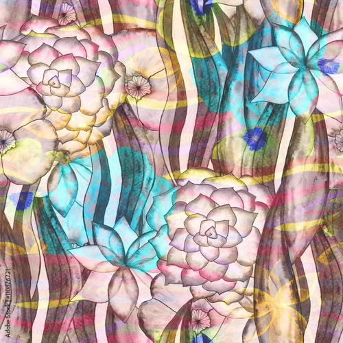 floral watercolor seamless pattern © Kseniia Veledynska