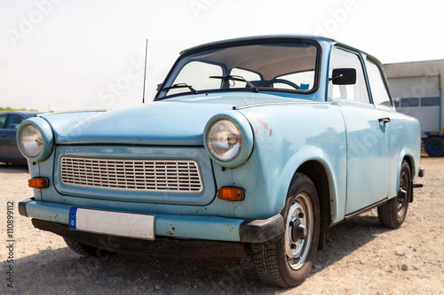 blauer Trabant Poster