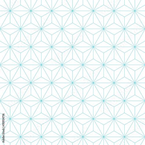 Fototapeta japanese asanoha pattern background. Vintage retro vector design element.