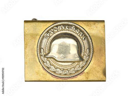 Poster bronze german military belt buckle.