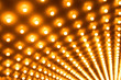 Theater Lights Out of Focus in Rows