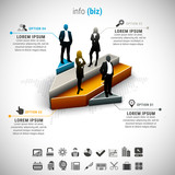 Business infographic. File contains text editable AI and PSD, EPS10,JPEG and free font link.