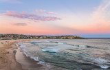 Quite evening at Bondi Beach in Sydney after the sun has set.