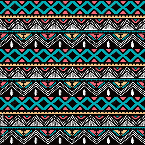 Cotton fabric color native ethnic seamless pattern
