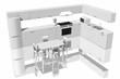 Quadro Cucina componibile vista in 3D completa di elettrodomestici ..