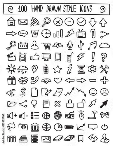 Hand drawn icons vector set © shooarts
